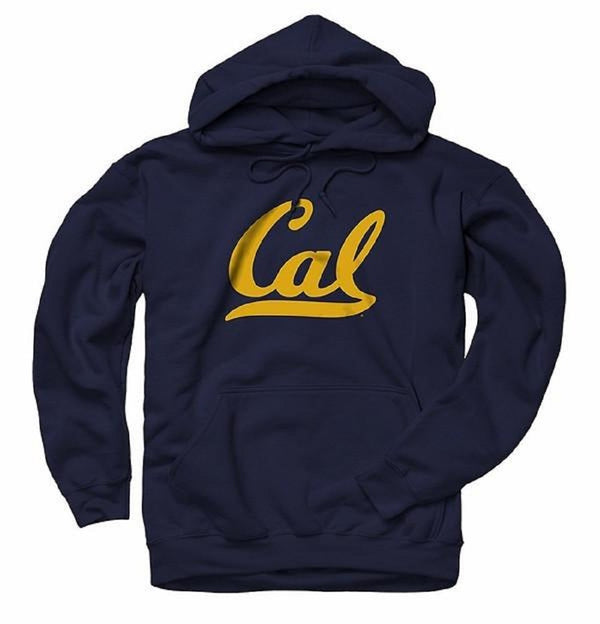 University Of California Berkeley California Golden Bears Script Cal Mens Hoodie -Navy-Shop College Wear
