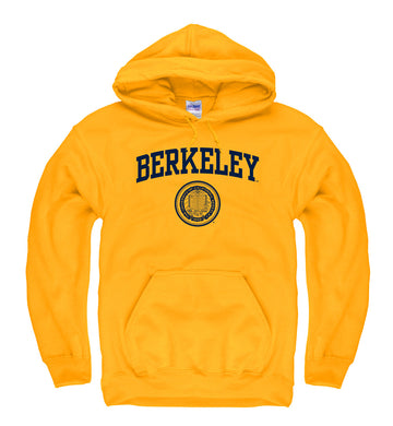 UC Berkeley Arch & Seal Men's Hoodie Sweatshirt-Gold