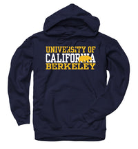 University Of California Berkeley 3 Stacks Men's Hoodie Sweatshirt- Navy-Shop College Wear