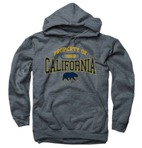 UC Berkeley Property Of Men's Hoodie Sweatshirt-Charcoal-Shop College Wear