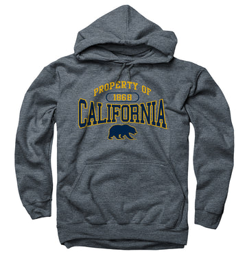 UC Berkeley Property Of Men's Hoodie Sweatshirt-Charcoal