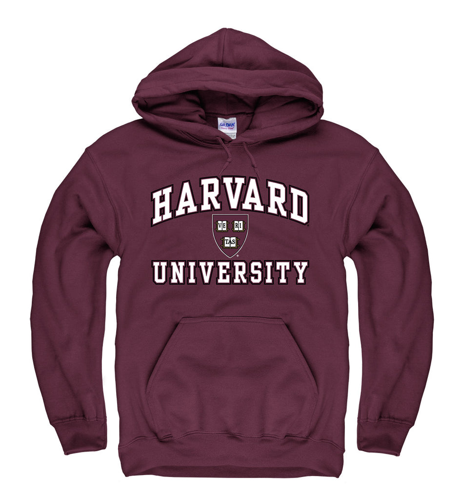 Harvard University Men;s Hoodie Sweatshirt-Maroon-Shop College Wear