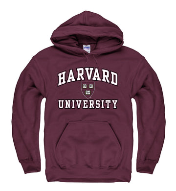 Harvard University Men's Hoodie Sweatshirt-Maroon