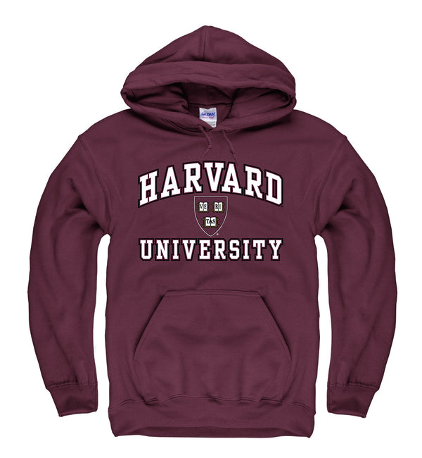 Harvard University Men's Hoodie Sweatshirt-Maroon-Shop College Wear