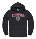 Stanford University Arch & Seal Men's Hoodie Sweatshirt-Black