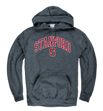 Stanford University Men's Tall font Hoodie sweatshirt-Charcoal