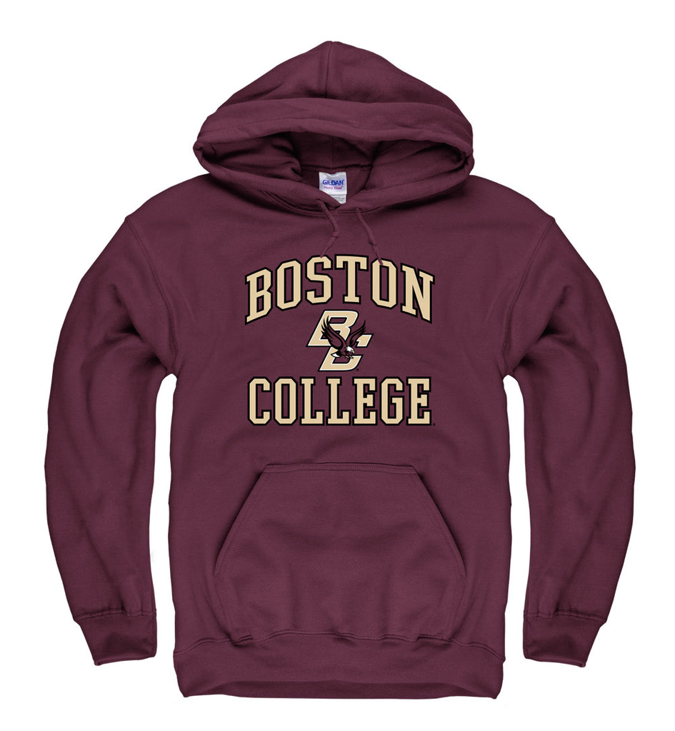 Boston College Eagles Men's Pull Over Hoodie Sweatshirt-Maroon-Shop College Wear