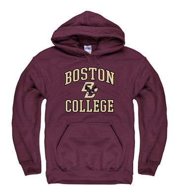 Boston College Eagles Men's Pull Over Hoodie Sweatshirt-Maroon
