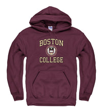 Boston College Arch & Seal Hoodie Sweatshirt-Maroon-Shop College Wear