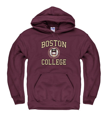 Boston College Arch & Seal Hoodie Sweatshirt-Maroon