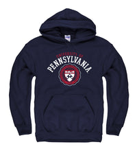University Of Pennsylvania Penn Hoodie Sweatshirt - Navy-Shop College Wear