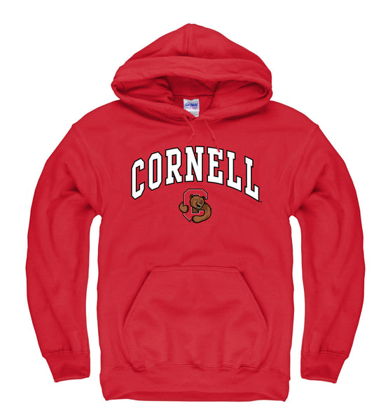 Cornell University Men's Hoodie Sweatshirt-Red-Shop College Wear