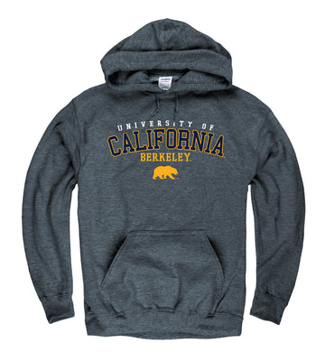 UC Berkeley Cal Men's Hoodie Sweatshirt -Charcoal