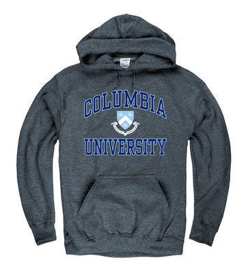 Columbia University Men's Hoodie Sweatshirt- Charcoal