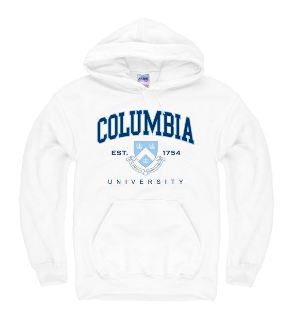 Columbia University Men's Hoodie Sweatshirt-White-Shop College Wear