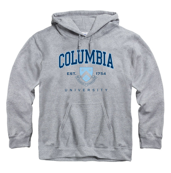 Columbia University Lions Hoodie Sweatshirt-Gray-Shop College Wear