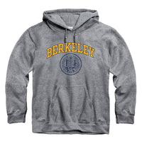 University Of California Berkeley Arch & Seal Hoodie Sweatshirt-Charcoal-Shop College Wear