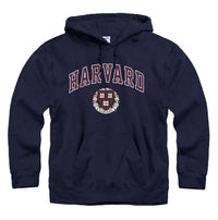 Harvard University Crimson hoodie sweatshirt-Navy-Shop College Wear