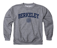 UC Berkeley Arch & Seal Youth Sweatshirt-Graphite-Shop College Wear