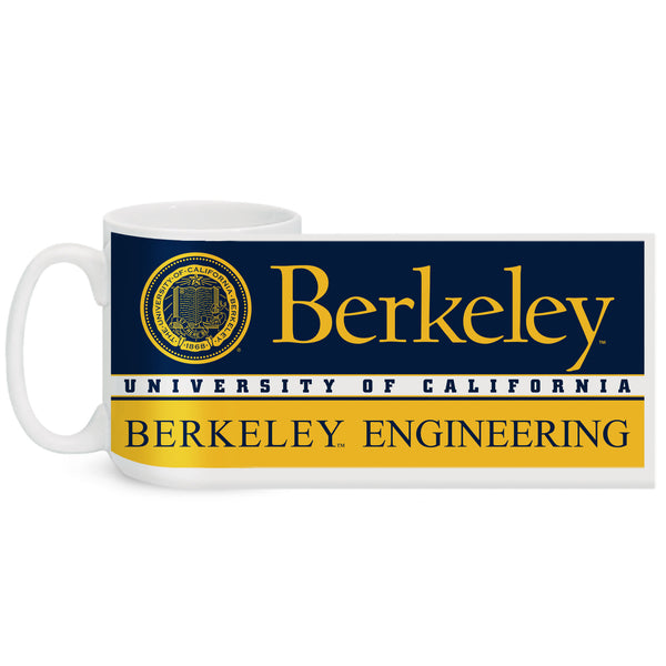 UC Berkeley Engineering 15oz colormax Coffee Mug - WHITE-Shop College Wear
