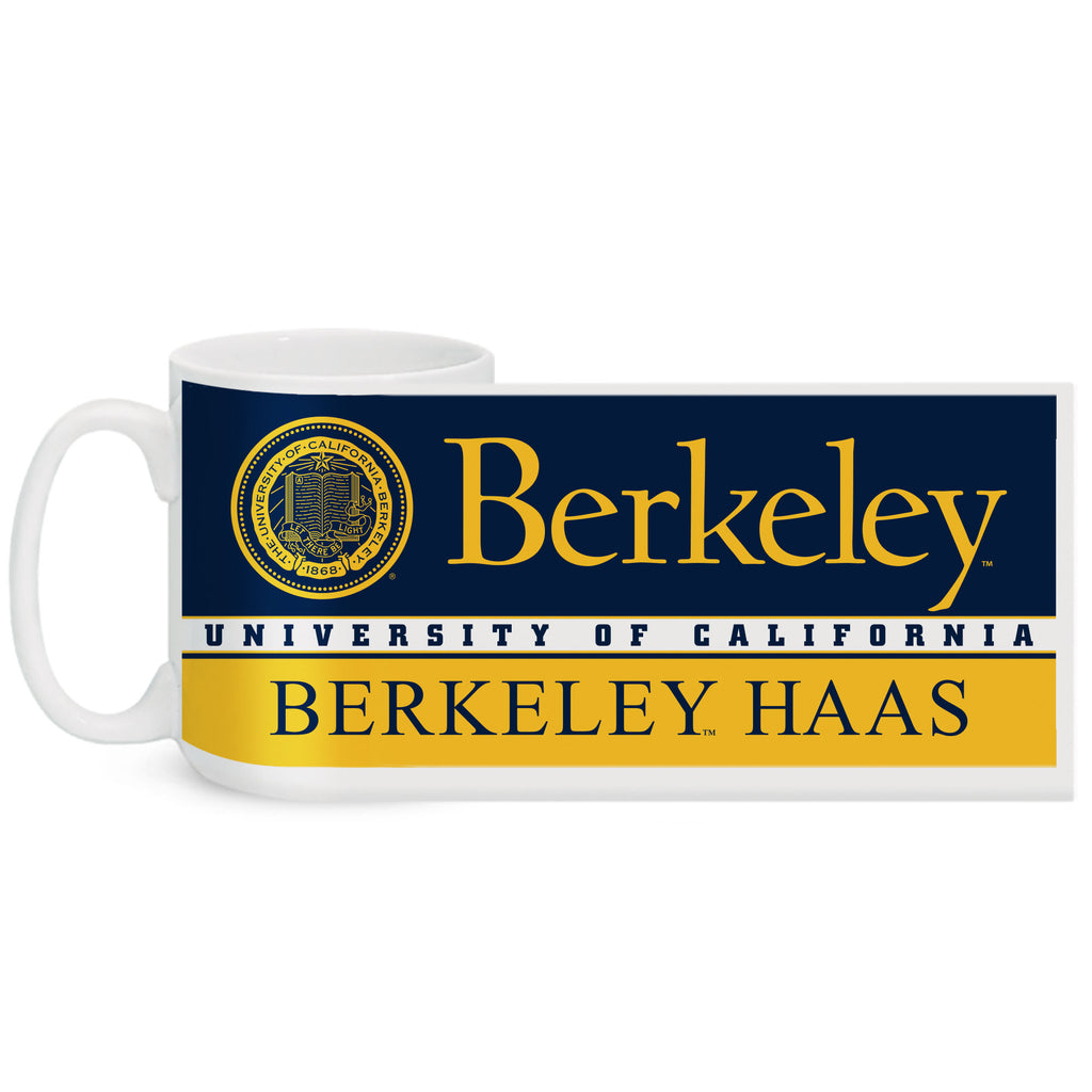 UC Berkeley Haas 15 Oz. Coffee Mug - WHITE-Shop College Wear