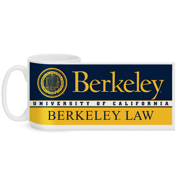 UC Berkeley Law 15 Oz. Coffee Mug - WHITE-Shop College Wear
