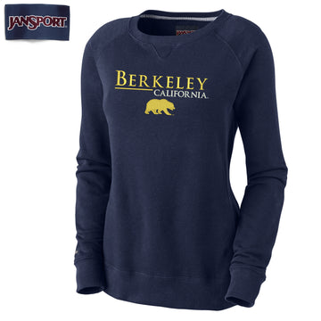 UC Berkeley Cal Women's Embroidered Crew Neck Sweatshirt - Navy
