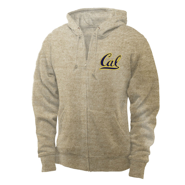 UC Berkeley Cal Applique Men's Hoodie Sweatshirt- Oatmeal-Shop College Wear