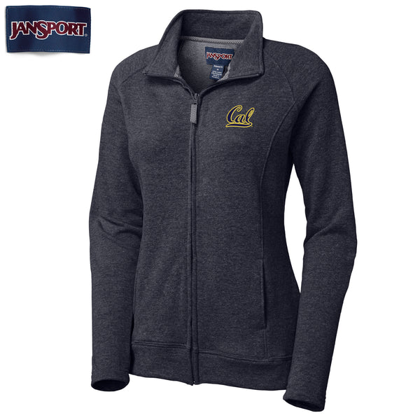 UC Berkeley Cal Applique Jansport Women's Zip-Up Sweatshirt-Navy-Shop College Wear