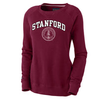 Stanford Cardinals Women's Crew Neck Sweatshirt-Cardinal-Shop College Wear