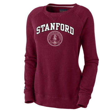 Stanford Cardinals Women's  Crew Neck Sweatshirt-Cardinal