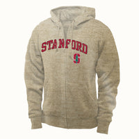 Stanford University Men's Zip-Up Sweatshirt-Oatmeal-Shop College Wear