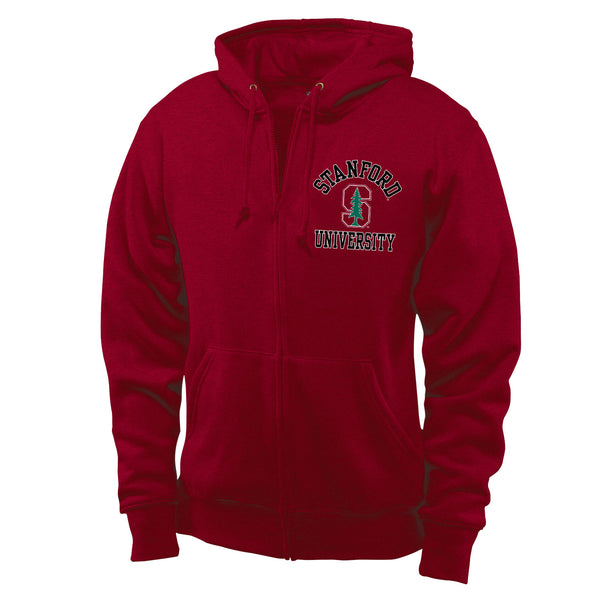 Stanford Cardinal Men's Zip-Up Sweatshirt-Cardinal-Shop College Wear