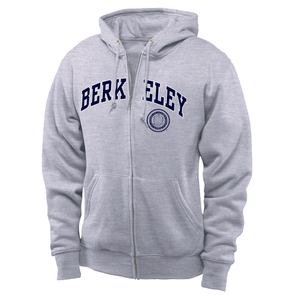UC Berkeley Cal Men's Zip Hoodie Sweatshirt-Gray-Shop College Wear