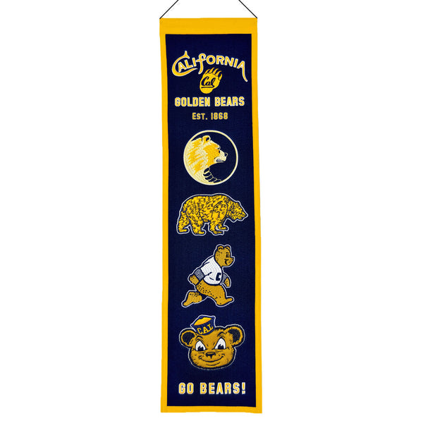 UC Berkeley Cal Retro Embroidered Heritage Banner - Navy-Shop College Wear