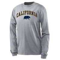 UC Berkeley Cal Men's Long Sleeve T-Shirt-Gray-Shop College Wear