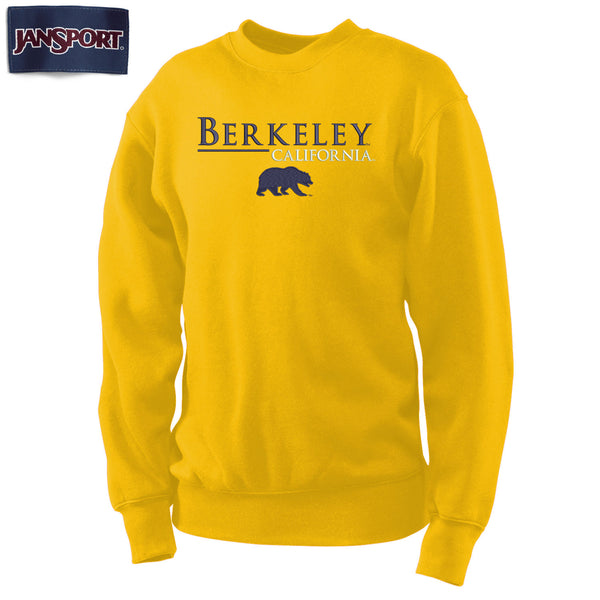 UC Berkeley Cal Embroidered Men's Crew Neck Sweatshirt-Gold-Shop College Wear