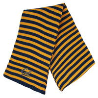 U.C. Berkeley Cal embroidered Micro-Stripe unisex scarf-Gold-Shop College Wear