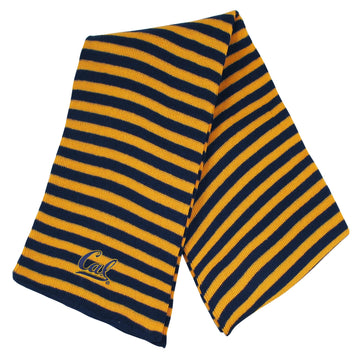 U.C. Berkeley Cal embroidered Micro-Stripe unisex scarf-Gold