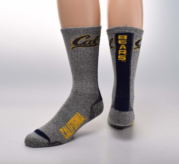 UC Berkeley Cal Vortex Tweed No Slip Socks-Shop College Wear