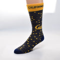University Of California Berkeley Cal socks Navy/Gold