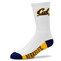 UC Berkeley Cal Color Block Athletic Socks - White