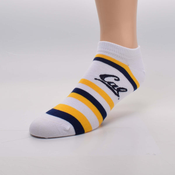 UC Berkeley Cal No Show Socks- White-Shop College Wear