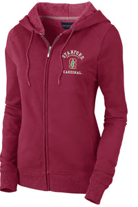 Stanford Cardinal Women's Zip- Up Sweatshirt-Cardinal-Shop College Wear