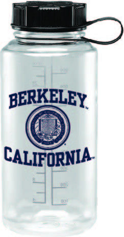 UC Berkeley Cal 32 Oz. Water Bottle -Clear-Shop College Wear