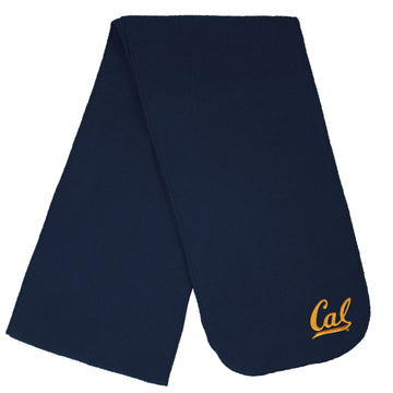 U.C. Berkeley Cal Bears embroidered single weight fleece scarf-Navy