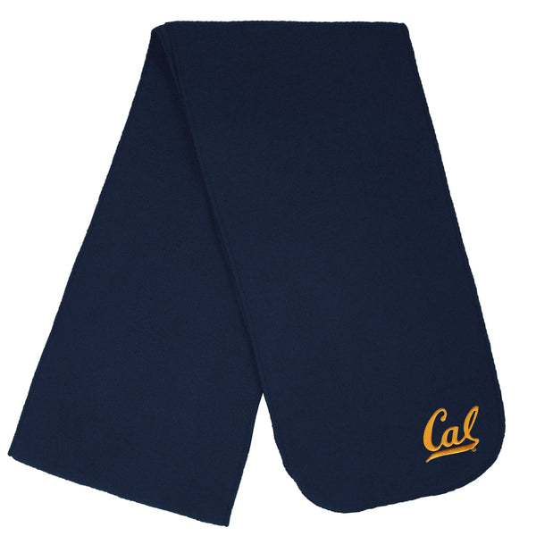 U.C. Berkeley Cal Bears embroidered single weight fleece scarf-Navy-Shop College Wear
