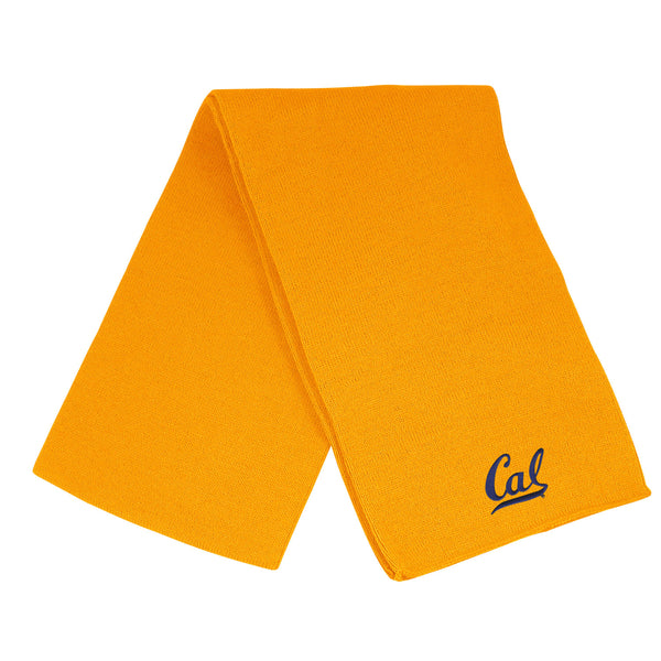 U.C. Berkeley Cal embroidered solid unisex scarf-Gold-Shop College Wear