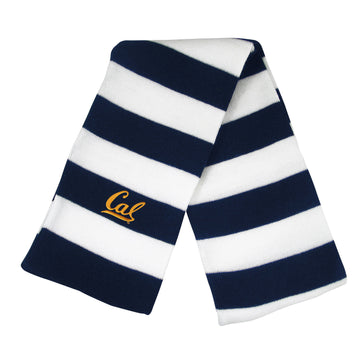U.C. Berkeley Cal embroidered rugby unisex scarf-Navy