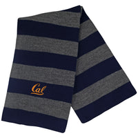 UC Berkeley Cal Embroidered Rugby Scarf- Charcoal-Shop College Wear